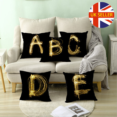Uk A-z Letter Polyester Cushion Cover Pillow Case Waist Throw Home Sofa Decor • 2.98£