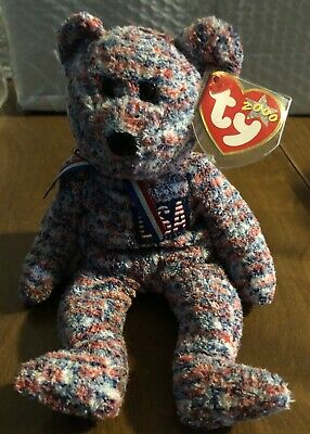 $4.99 • Buy Ty Beanie Baby USA Bear DOB July 4, 2000 MWMT P.E. Pellets