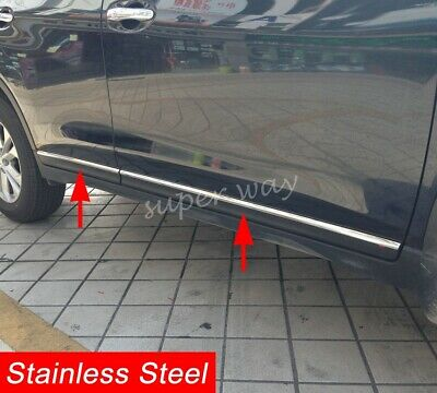 AU118.68 • Buy Exterior Steel Door Body Strip Trim Accessories For Nissan X-Trail T32 2014-2016