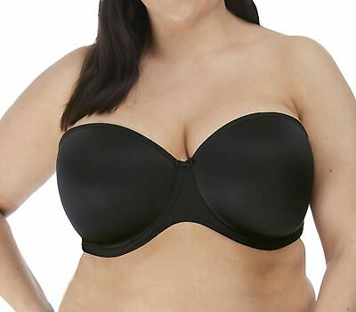 Elomi Smooth EL4300 W Underwired Moulded Strapless Bra Black BLK 36J CS • 44.99£