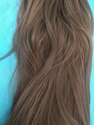 Half Wig Clip In Hair Hair 23 Inch Golden Brown Colour With Beachy Waves • 5.99£