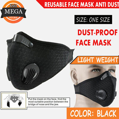 AU25.99 • Buy Reusable N95 Face Mask Protection Sports Outdoor Anti Dust Pollution Facemask