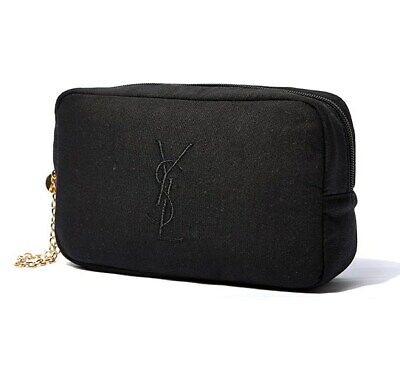 AU21.99 • Buy YSL Black Makeup Cosmetics Bag With Gold Chain Strap, Brand NEW!