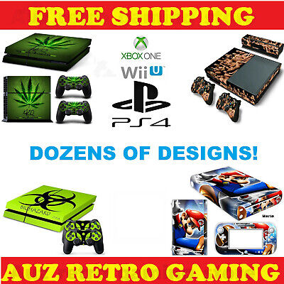 AU14.95 • Buy SKIN DECAL STICKER For PS4 PRO SLIM XBOX ONE Wii U Console Controller