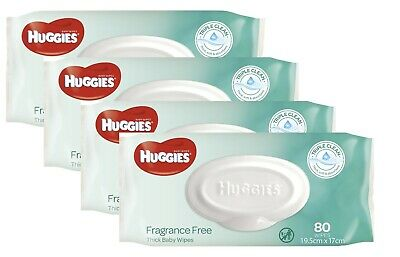 AU20.99 • Buy Huggies Wipes Unscented Refill Carton (4 X 80) 320's Huggies