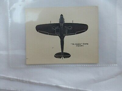 WW2 ERA SMALL RECOGNITION CARD   TYPE  ?    9 X 8 CM  /  Spitfire ?? • 9.99£