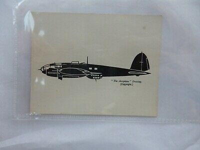 Ww2 Era Small Recognition Card   Type  ?    9 X 8 Cm  /  He111 ? • 9.99£