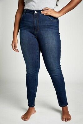 View Details Cotton On Womens Curve Tall Adrianna Skinny High Jean Curve  In  Blue • 30.00AU