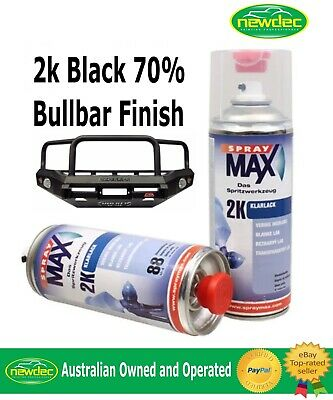 AU44 • Buy 2K BLACK BULL BAR TOUCH UP PAINT SPRAY 400ml CAN ANY CAR AUTO FORD TOYOTA NISSAN