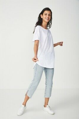 AU5 • Buy Cotton On The One Boyfriend Crew Tee S/S Tops  In  White