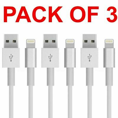 AU7.95 • Buy 3X Certified USB Lightning Data Charger Cable Cord For Apple IPhone 7 8 X 11 12