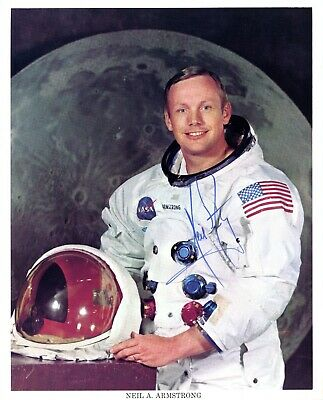 $3795 • Buy Astronaut Archives Offers Vintage Neil Armstrong Signed Nasa Wss  Litho !!