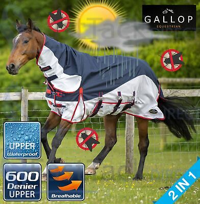 £46.95 • Buy WATERPROOF TURNOUT FLY RUG Gallop Lightweight Bug Sun UV Protection Horse Sheet