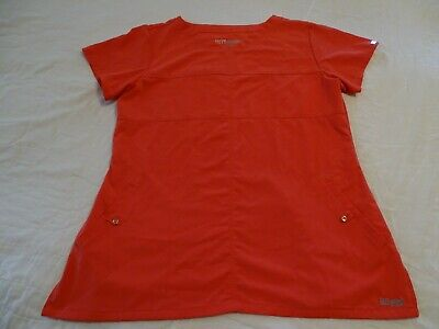 $16.50 • Buy Grey's Anatomy Signature Barco Scrub Top Shirt Size L Short Sleeve Passion/Coral