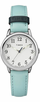 Timex TW2R62900, Women's Easy Reader, Blue Leather Watch, White Dial, Indiglo • 27.84£