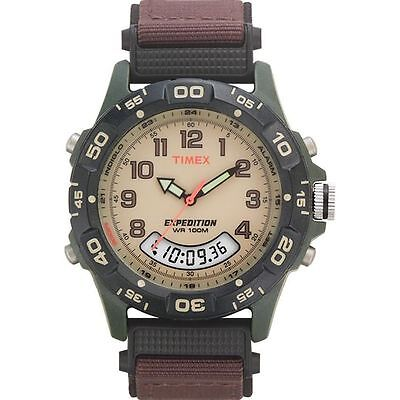 $39.90 • Buy Timex T45181, Men's Expedition Combo Brown Watch, Indiglo, Chronograph