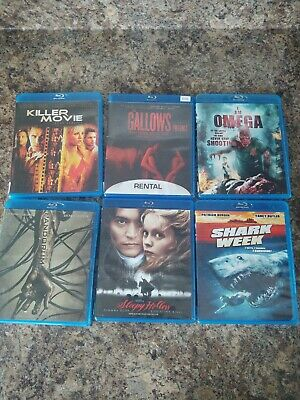 $ CDN19.99 • Buy Horror Movie Blu-ra Lot Of 6 Titles Good Used Condition Gallows Sleepy Hollow