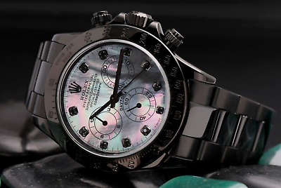 $ CDN29825.92 • Buy Rolex Daytona Black MOP Diamond Dial Black PVD/DLC Coated Stainless Steel Watch