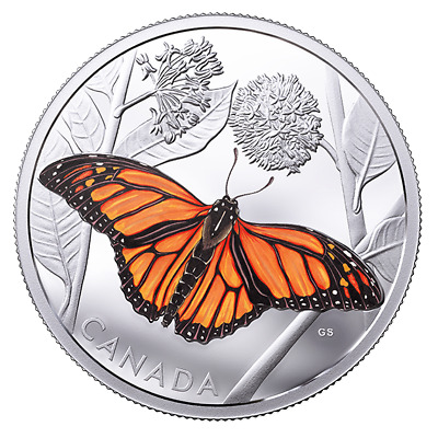 $129.99 • Buy MONARCH BUTTERFLY MIGRATION 2017 $50 3 Oz Fine Silver Coin - Royal Canadian Mint