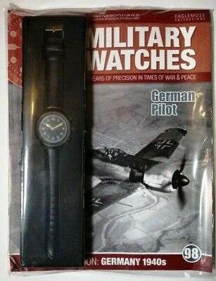 Eaglemoss Military Watches - German Pilot 1940s Ww2 Watch Issue 98 + Mag • 5£