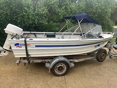 AU4200 • Buy Quintrex 4.2 Metre Runabout W 30 Hp Johnson Priced To Sell