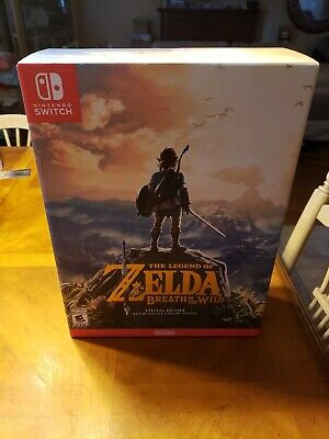 $189 • Buy The Legend Of Zelda Breath Of The Wild Special Edition Nintendo Switch New Mint*