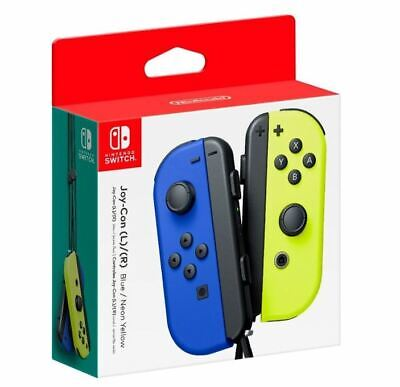 $78 • Buy Genuine Joy-Con (L/R) Wireless Controllers For Nintendo Switch - Blue/ Yellow