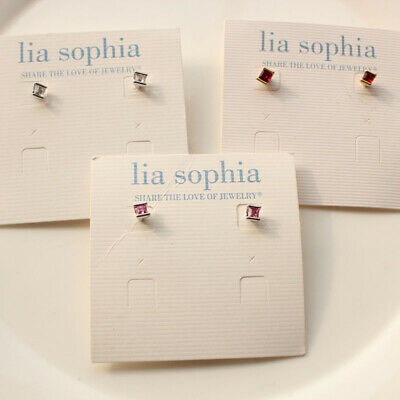 $ CDN6.47 • Buy New Lia Sophia Crystal Small Stud Earrings Fashion Women Jewelry 4Colors Chosen