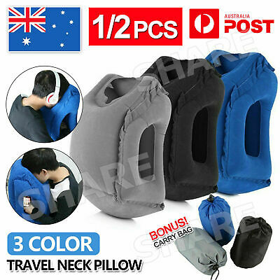 AU15.95 • Buy Inflatable Travel Nap Camping Pillow Air Cushion Neck Comfortable Support Pillow