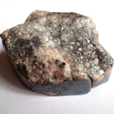 CALCITE & QUARTZ On HEMATITE Top Quality Mineral (Cumbria UK) 76mm/287gms [A104] • 9.99£