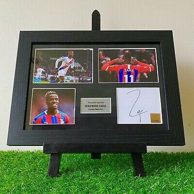 Authentic Hand Signed Wilfried Zaha Crystal Palace F.C. Autograph Frame • 69.99£