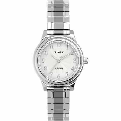 Timex TW2U09300, Easy Reader, Women's, Silvertone Expansion, Indiglo • 30.94£