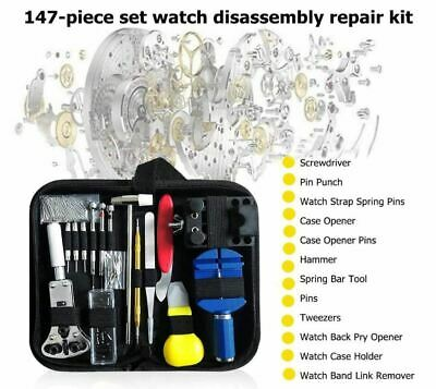 $ CDN21.38 • Buy 147 Pcs Watch Repair Kit Watchmaker Back Case Remover Opener Link Pin Spring Bar