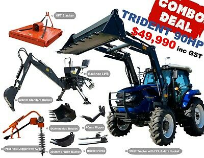 AU49990 • Buy Trident 90hp Combo Deal (fel + Backhoe + Slasher + Forks)