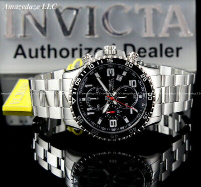 $ CDN96.72 • Buy Invicta Men's PILOT 45mm Stainless Steel Black Dial Chronograph Tachymeter Watch