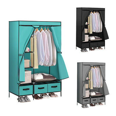 AU49.99 • Buy Levede Portable Clothes Closet Wardrobe Storage Cloth Organiser Unit Shelf Rack