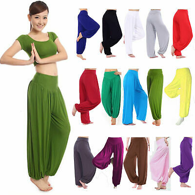AU27.29 • Buy Comfortable Boho Yoga Dance Harem Pants Casual Womens Loose Palazzo Legging AU