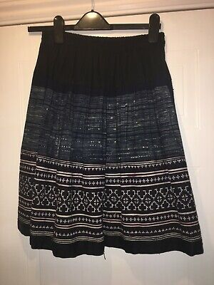 Ethnic Skirt With Patchwork And Embroidery. Free Size Waist 30-32 Inches • 1.70£