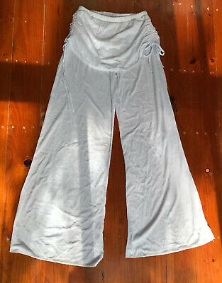 AU8.75 • Buy Yoga Pants White Skirt Side Ties Style Wide Leg Size M 12