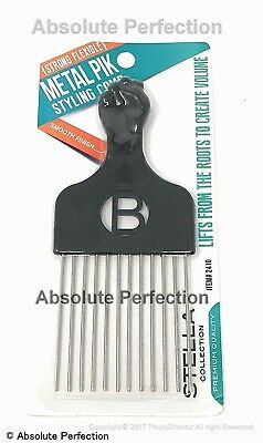 $14.99 • Buy Pro Grade Magic High Quality Hair Pick Afro Pick Styling Pik Metal Pik (Pack ...
