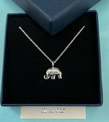 £17.99 • Buy Silver Elephant Pendant Necklace Chain