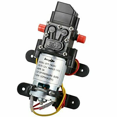 $23.72 • Buy Bayite 12V DC Fresh Water Pressure Diaphragm Pump With Hose Clamps Self Priming