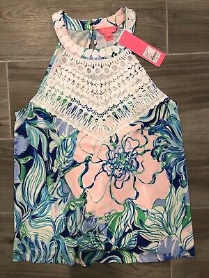 $35 • Buy Lilly Pulitzer Sleeveless Dawn Top Party Thyme Size Small NWT
