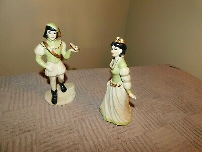 $19.99 • Buy CERAMIC ARTS  STUDIO PAIR PRINCE CHARMING CINDERELLA FIGURINES GREEN Vintage
