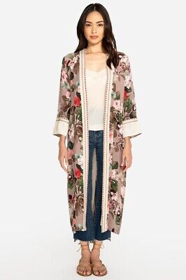 $105.99 • Buy Johnny Was Long Floral Kimono Robe, Small NWT $345 Retail