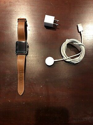 $ CDN77.56 • Buy Apple Watch Series 1 42mm Aluminum Case Leather Band