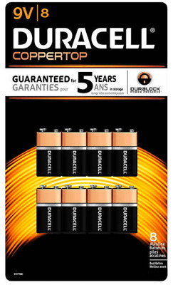 AU29.99 • Buy 【】Duracell 9V Copper Top MN1604 Duralock Alkaline Batteries 8-Pack
