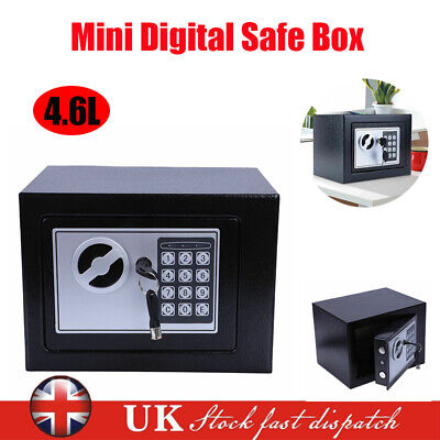Electronic Password Security Safe Money Cash Deposit Box Office Home Safety Mini • 16.29£