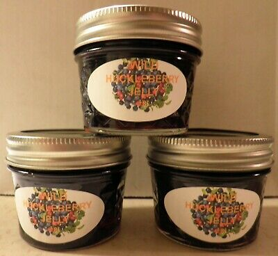 $1.99 • Buy Fresh WILD HUCKLEBERRY JELLY 1/4 Pint (4 Oz.), I Also Have Larger Sizes