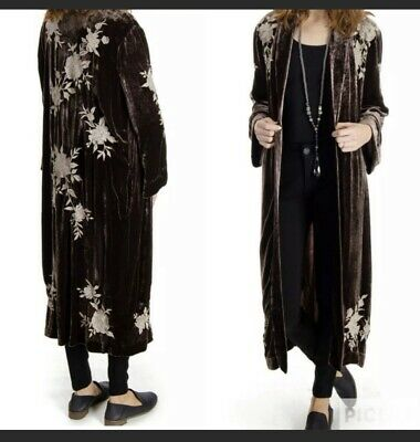 $87 • Buy Johnny Was Santal Velvet Kimono Boho Coat Size L NWT Retail $365